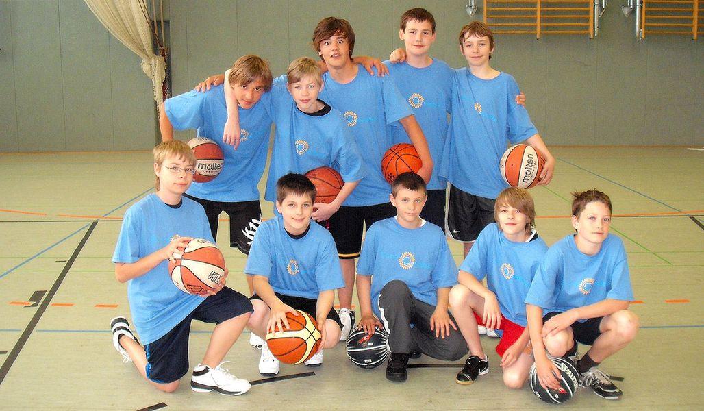 Kinderreisen Sportcamp Basketball Gruppenbild